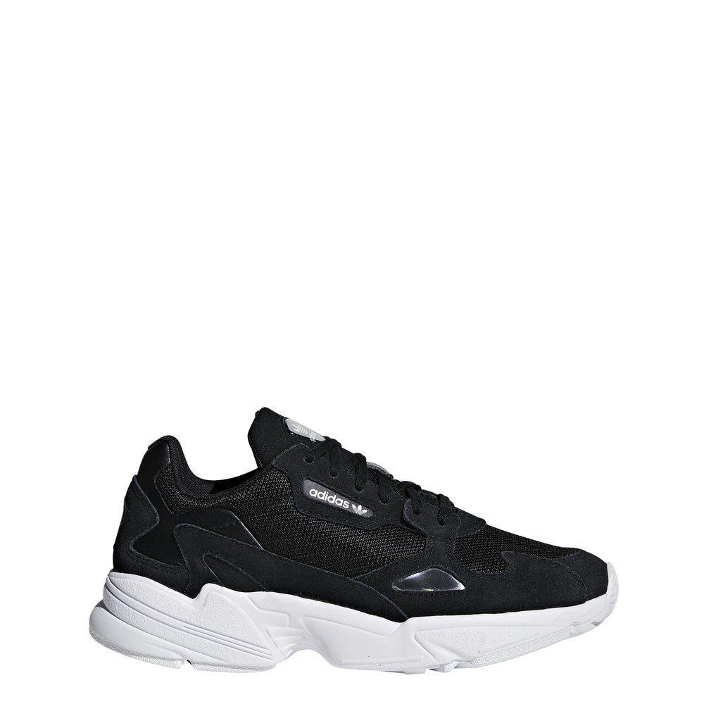 ADIDAS FALCON W Black Black White Schuhe Sneaker Schwarz