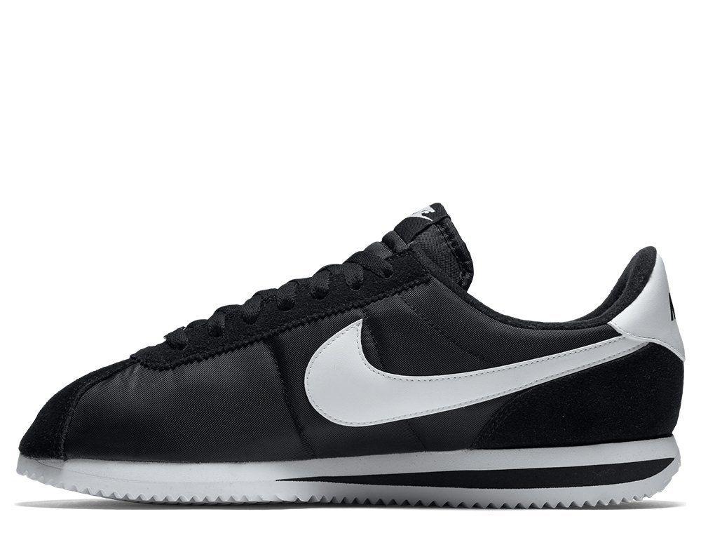 oficjalny dostawca Trampki 2018 dobra jakość Кросівки Nike Cortez Basic Nylon Black (819720-011)