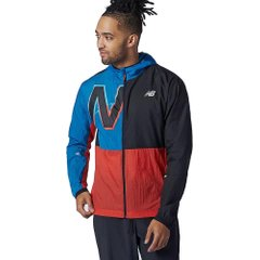 Куртка для бігу New Balance Printed Impact Run Light Pack Jacket Red Black (MJ01238BWB) - оригінал в Україні