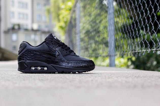 """Nike WMNS Air Max 90 """"Black Croc"""" •"""