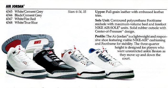 ba2c33b0c039 Хронология выпуска кроссовок Air Jordan 3
