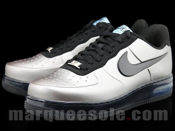 72d609598c4b Кроссовки Nike Air Force 1 Low  Foamposite Silver Black  - Цена ...