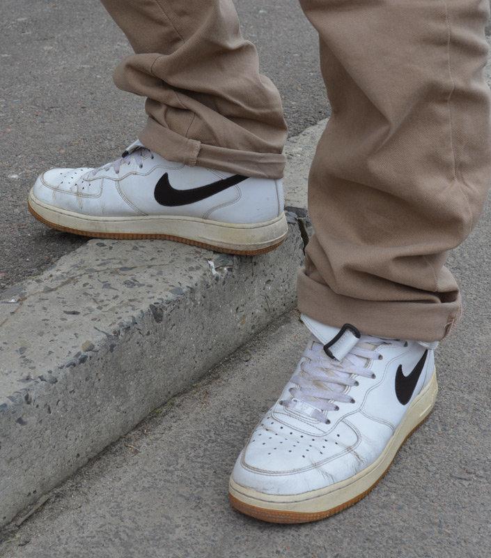 Мои кроссовки Nike Air Force 1 Mid  White Velvet Brown  спустя 7 лет носки f4ebdff4cbf42
