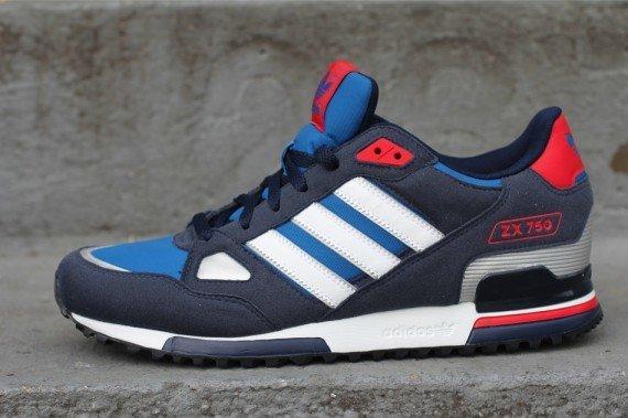 ????????? adidas Originals ZX 750 [Blue White Red] ????