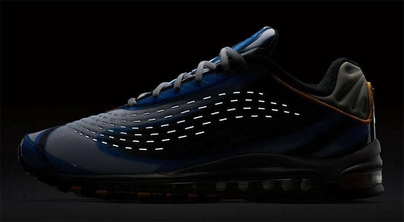 29502d8e Кроме того, компания Nike впервые использовала технологию цифровой печати в  дизайне кроссовок. Стоит также отметить, задник кроссовок Air Max Deluxe  сделан ...