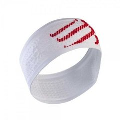 Повязка на голову Compressport Headband On/Off White, One Size, Для бега и тренировок
