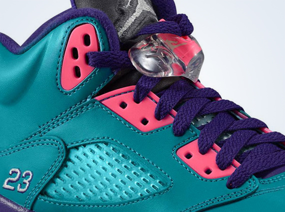 Кроссовки Air Jordan 5 GS [Teal Pink Purple]
