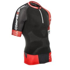 Футболка для бега Compressport Trail Running Shirt V2 Black Red, Одежда для бега, S