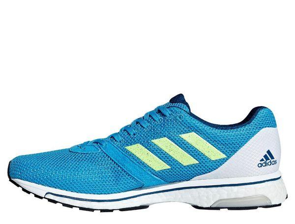 76055eab ... Кроссовки adidas Adizero Adios 4 White Blue (B37309), 42, Асфальт ...