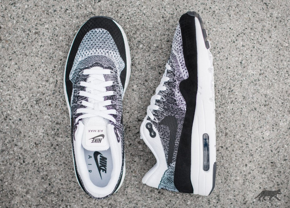 Кроссовки Nike Air Max 1 Ultra Flyknit Black/White-Black (843384-100)