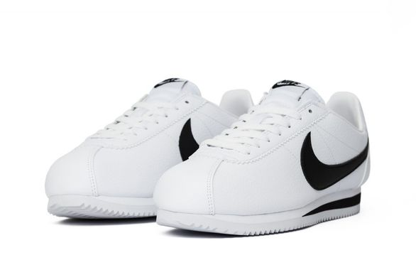 Кроссовки Nike Classic Cortez Leather White Black (749571-100), 41, Nike Cortez