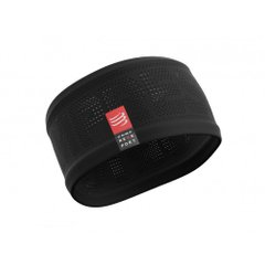 Compressport Headband V2 On Off Black, One Size, Для бега и тренировок
