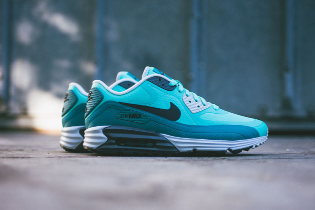 Кроссовки Nike Air Max Lunar90 WR [Bleached Turquoise/Catalina Pure Platinum Anthracite]