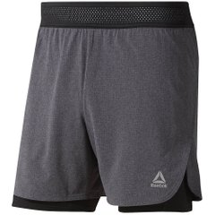 Reebok Running Epic Two в One Shorts Grey Black, Одежда для бега, XL