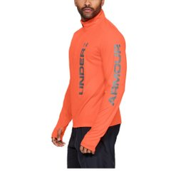 Лонгслив для бега Under Armour Speed Stride Split Quarter Zip Orange, Одежда для бега, XL