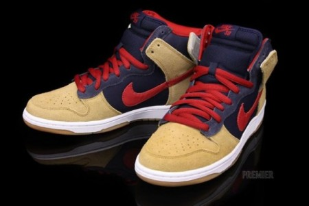 Nike SB Dunk High Premium Obsidian/Maple
