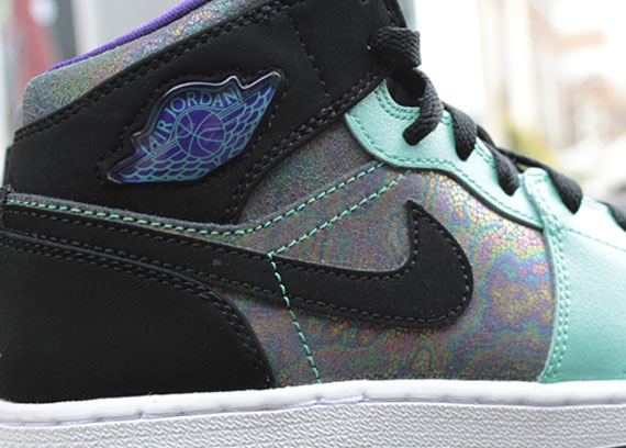 Кроссовки Air Jordan 1 Phat GS [Black Teal Iridescent]