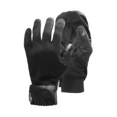 Black Diamond Wind Hood Gridtech Gloves Black, S/M, Для бега и тренировок