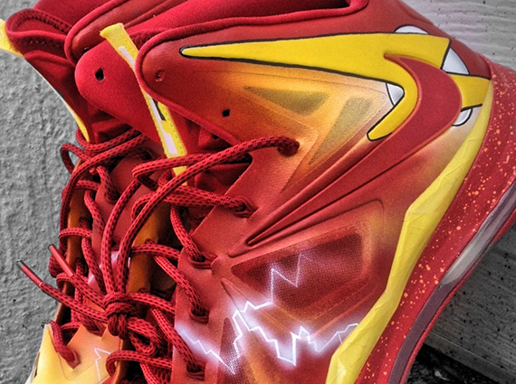 Кастомизация Nike LeBron X [The Flash] от Mache.  - блог Styles.ua
