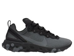 Кроссовки Nike React Element 55 SE Grey Black (CI3831-001), 44.5