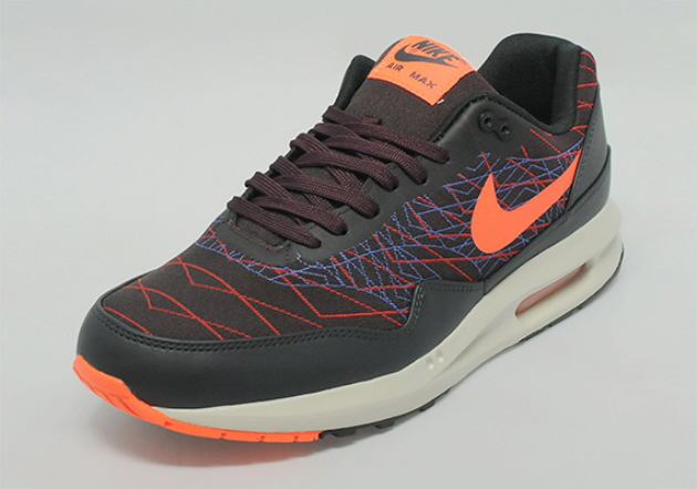 Кроссовки Nike Air Max Lunar1 Jacquard [Dark Burgundy/Black Red/Blue]