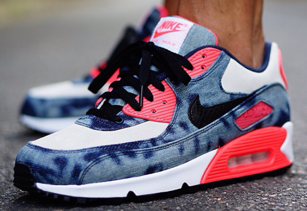Кроссовки Nike Air Max 90 [Midnight Navy/Black White Infrared]