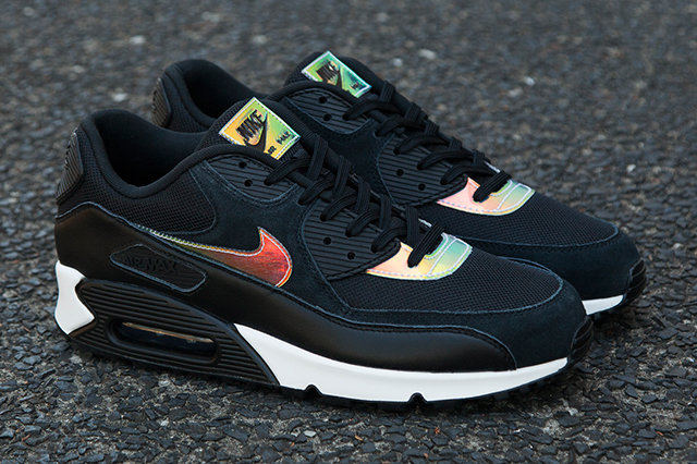 Кроссовки Nike Air Max 90 [Iridescent/Black]