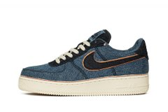Кроссовки Nike x 3×1 Air Force 1 07 PRM Blue (905345-403), 44, Nike Air Force 1