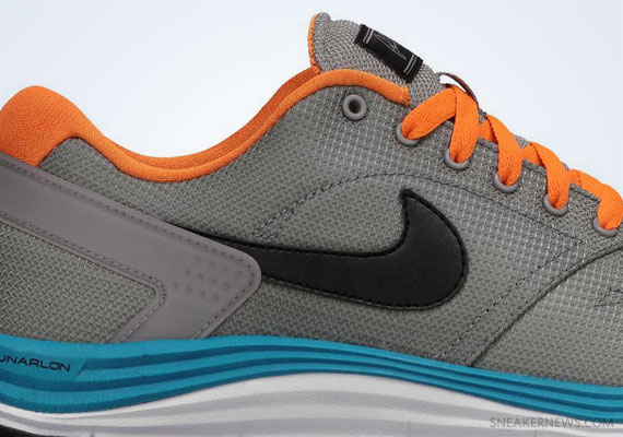 Кроссовки Nike Lunar Rod [Medium Grey Bright Citrus]