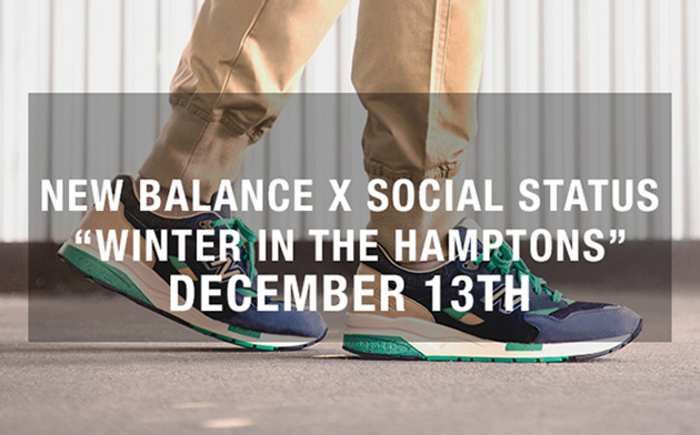 Тизер коллаборации Social Status x New Balance 1600 [Winter in the Hamptons]