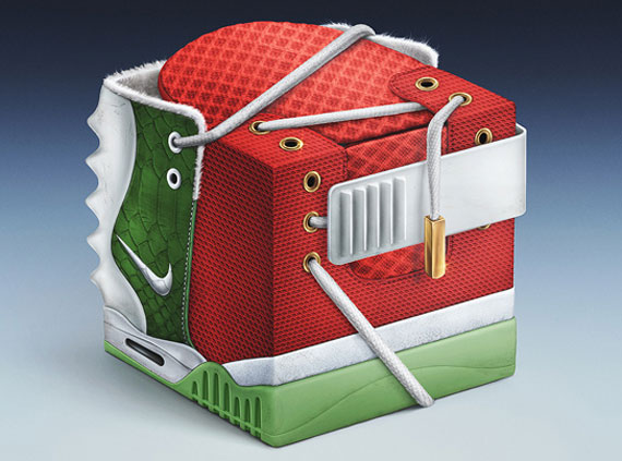 Иллюстрация Nike Air Yeezy 2 [Christmas] от Павела Нолберта