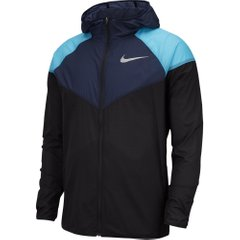 Куртка для бега Nike Windrunner Jacket Navy Black, Одежда для бега, XL