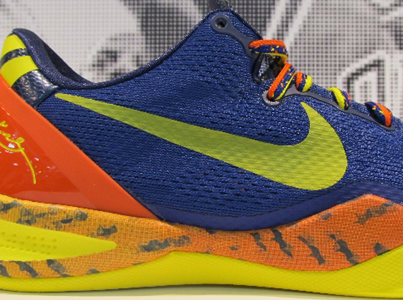 Кроссовки Nike Kobe 8 [Blue Orange Yellow]