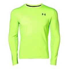 Футболка для бега Under Armour Qualifier Coldgear Longsleeve Green (1344061-884) - оригинал в Украине