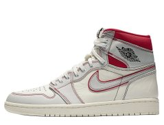 Кроссовки Air Jordan 1 Retro High OG Sail/University Red White (555088-160), 49.5