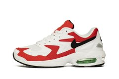 Кроссовки Nike Air Max 2 Light White Red (AO1741-101), 46, Nike Air Max