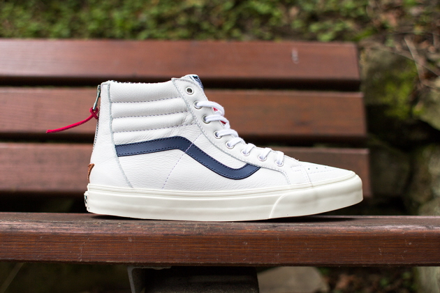 Кеды Vans Sk8-Hi Zip CA [Varsity Stripe/True White]